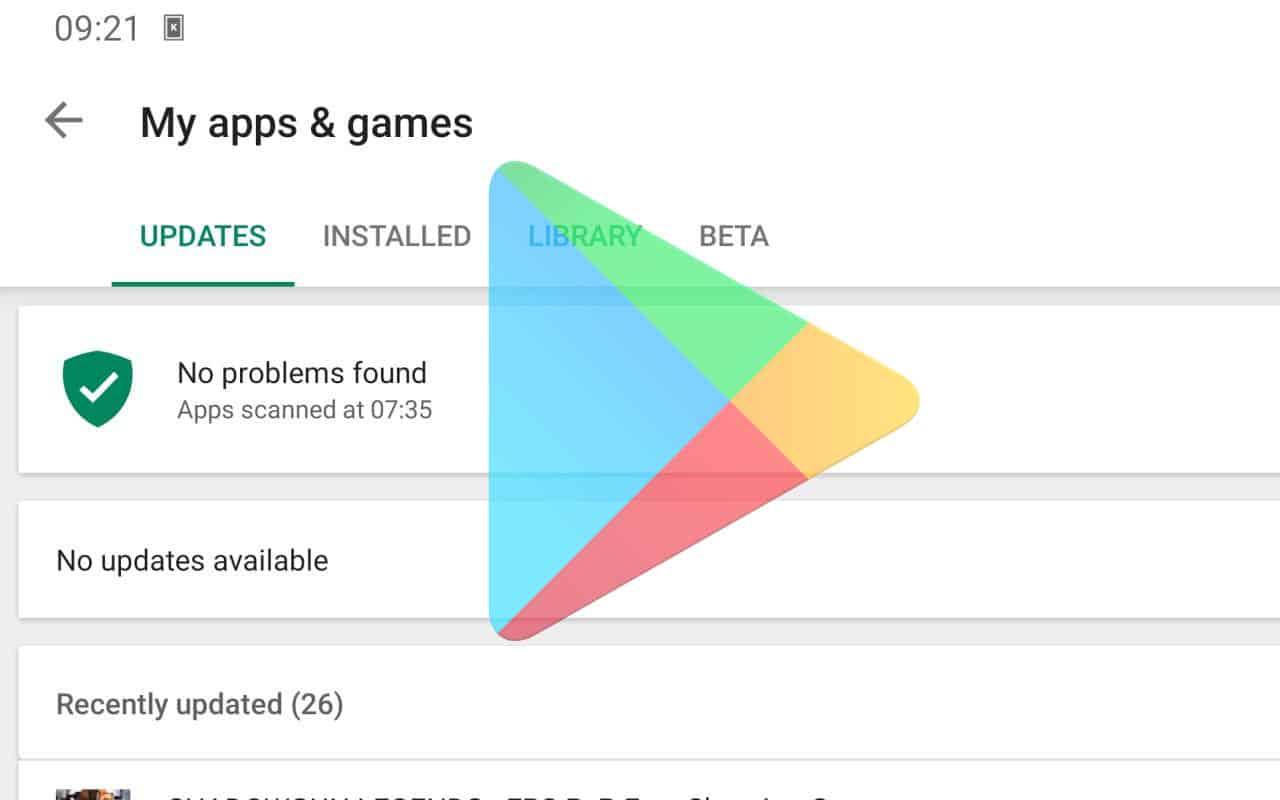Belum-melakukan-update-pada-Play-Store